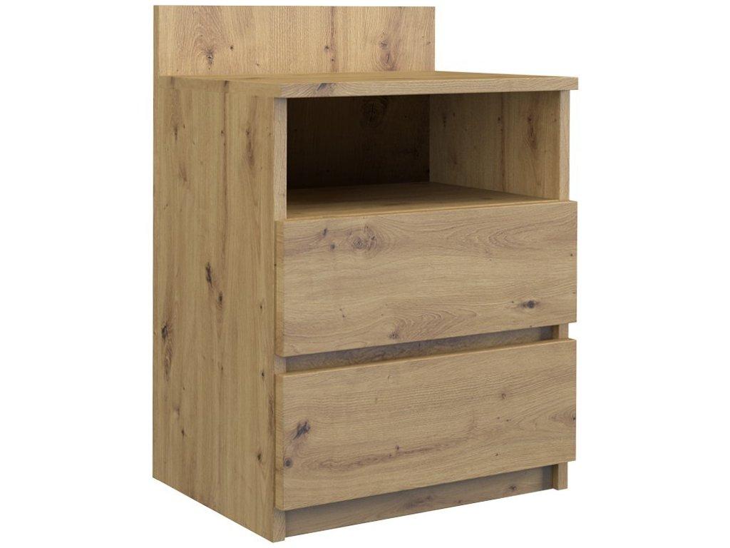Noční stolek, dub artisan, M1