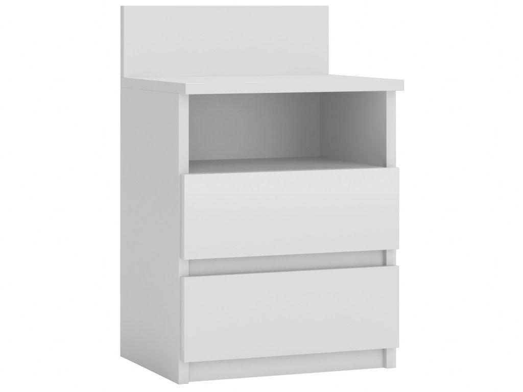Noční stolek, bílá, MALWA M1