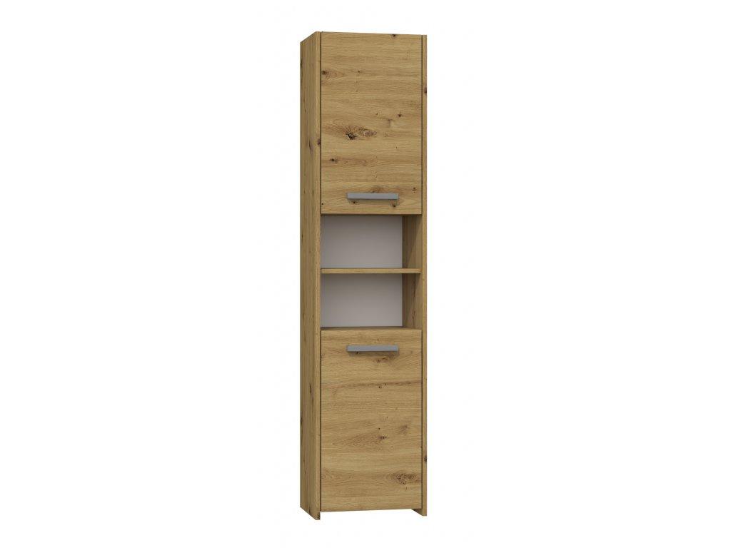 S40 vysoká skříňka, dub artisan 40x170x30cm