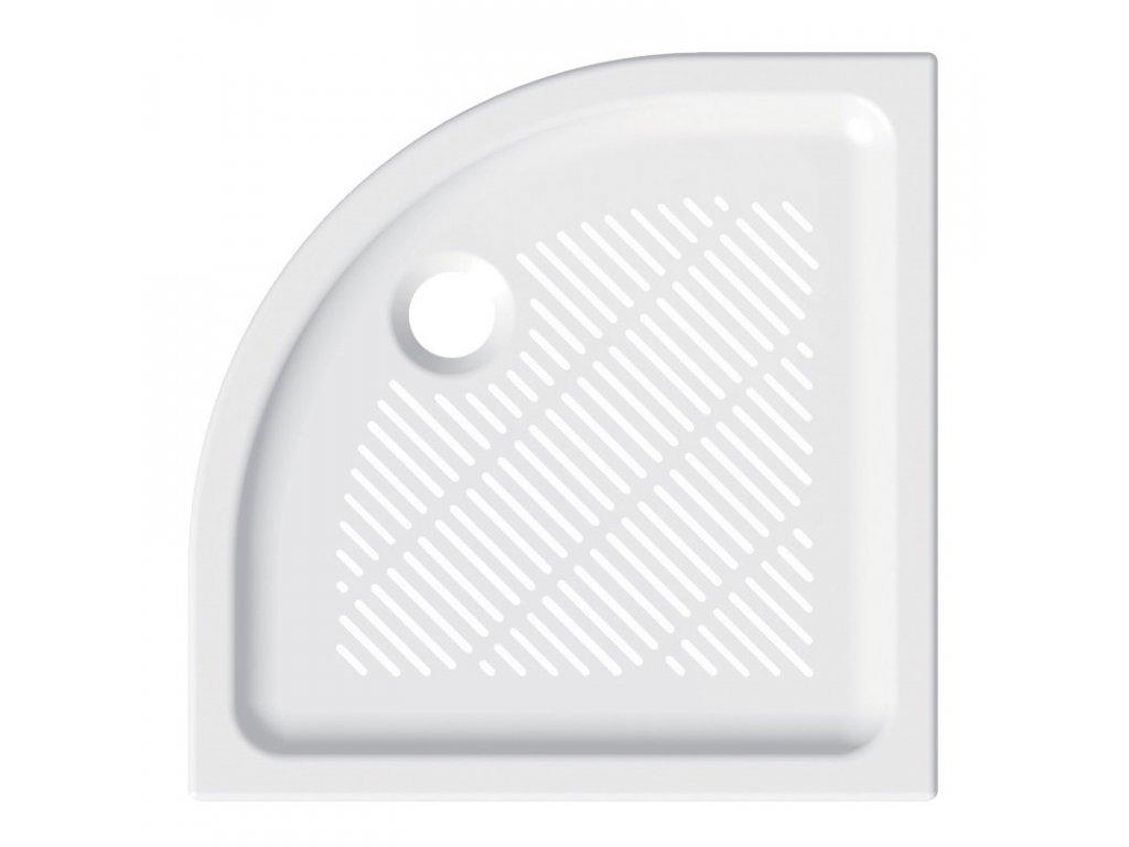 Čtvrtkruhová sprchová vanička, R550, keramická
