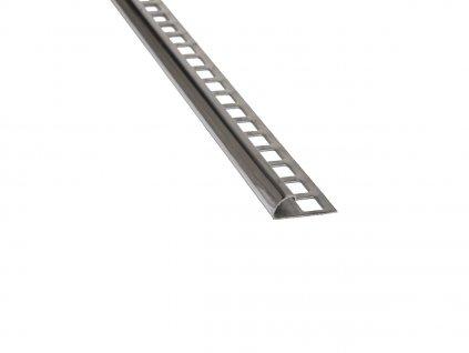 Nerezový profil čtvrtobloukový 10 mm 250 cm