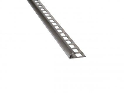 Nerezový profil čtvrtobloukový 10 mm 250 cm brus