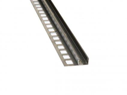 Nespádová lišta pro vložení skla, výška 11mm, vnitřní 11mm, 250cm