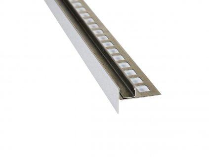 Spádová lišta pro vložení skla, 10mm 100cm vni.13mm levá