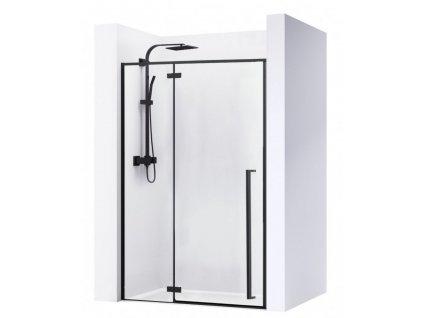 REA - Sprchové dveře Fargo 120 matně černé