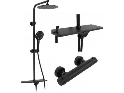 REA - Sprchový set Mike černá REA-P0550