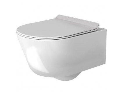 REA - Závěsná WC mísa Tores Rimless bílá