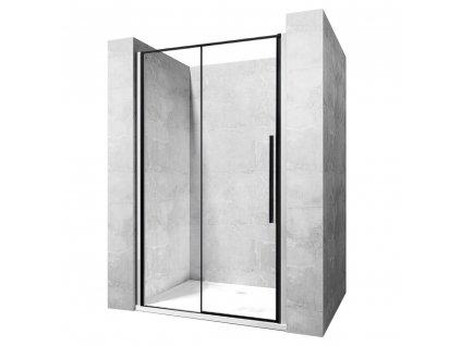 REA - Posuvné sprchové dveře Solar L/P 140 černé