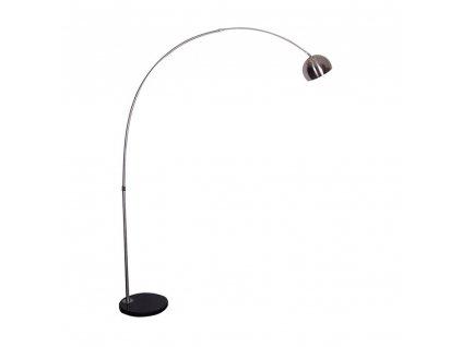 Oblouková lampa, nerezová ocel / černý mramor, CINDA TYP 15