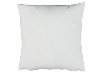 Polštář, sametová látka bílá, 45x45, ALITA TYP 13