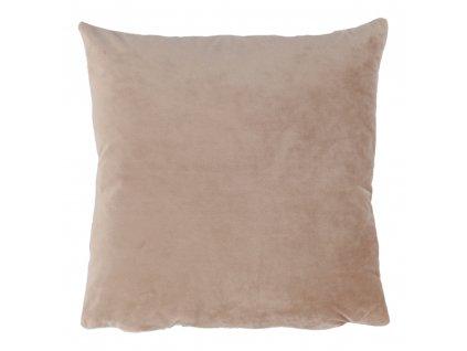 Polštář, sametová látka béžová, 45x45, ALITA TYP 9