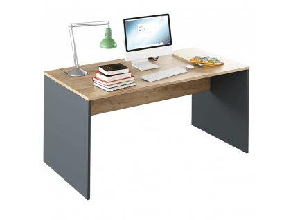Psací stůl, grafit / dub artisan, RIOMA NEW TYP 16