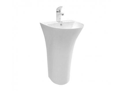 REA - Volně stojící umyvadlo Rita Slim 48x42 bílá (REA-U9901)