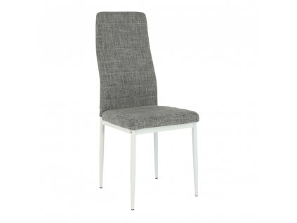 Židle, světlešedá látka / bílý kov, COLETA NOVA