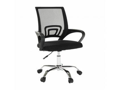 Kancelářská židle, síťovina černá / černá, DEX 2 NEW