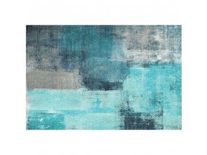 Koberec, modrá / šedá, 120x180, ESMARINA TYP 2