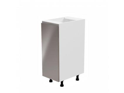 802/5000Spodní skříňka, bílá / šedá extra vysoký lesk, pravá, AURORA D30