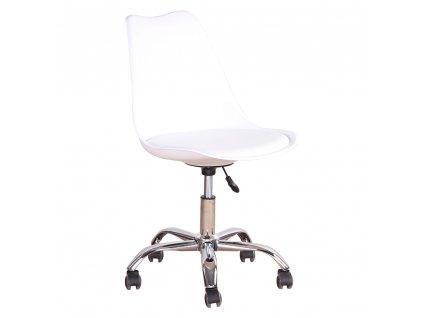 Kancelářská židle, bílá, DARISA NEW