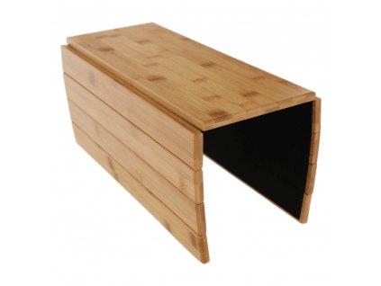 Odkládací podložka na sedačku, přírodní bambus, ALTE