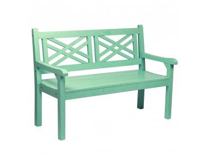 Dřevěná zahradní lavička, neo mint, 124 cm, FABLA