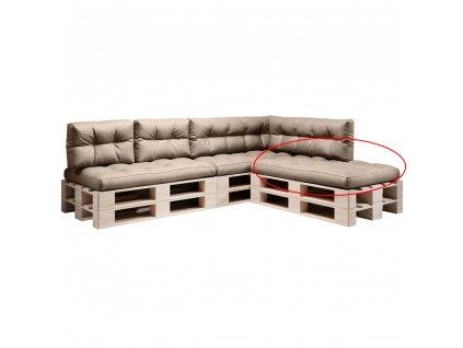 Polštář na paletové sezení, hnědá, ANIKA TYP 1