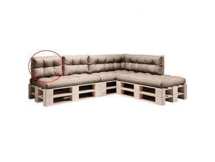 Polštář na paletové sezení, hnědá, ANIKA TYP 3