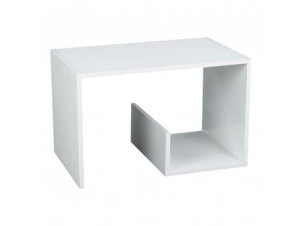 Příruční stolek/police, bílá, VOLKER