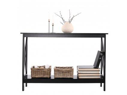 Konzolový stolek, černá, APOLOS