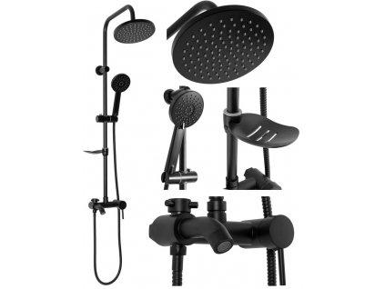 REA - Sprchový set Luis černá REA-P7005