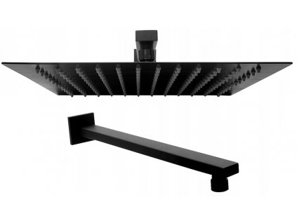 Hliníková sprchová hlavice Ultra Slim čtvercový 30x30 matně černá