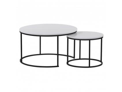 Set dvou konferenčních stolků, bílá/černá, IKLIN