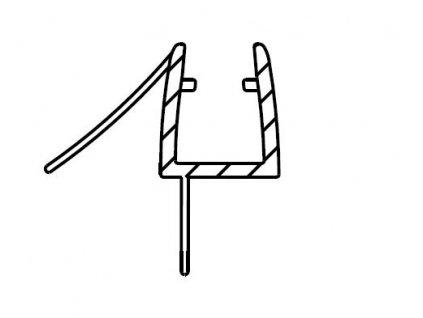 Spodní těsnicí lišty na dveře (okapnička) pro Melody B8,D1- 2000mm, na sklo 6mm