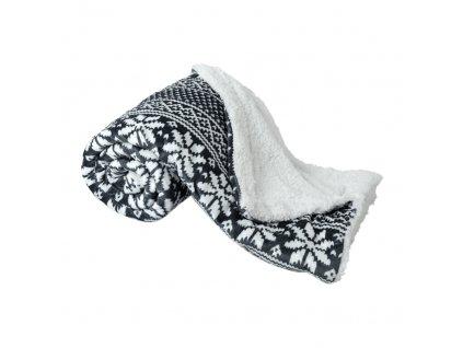 Oboustranná beránková deka, zimní motiv, 150x200, MALENA