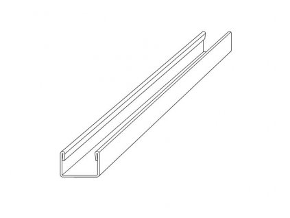 Nespádová lišta pro dodatečnou montáž a vložení skla , výška 8mm, vnitřní 13mm, 200cm