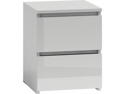Noční stolek MALWA W2, bílá lesk