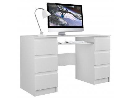 PC stůl, bílá, KUBA