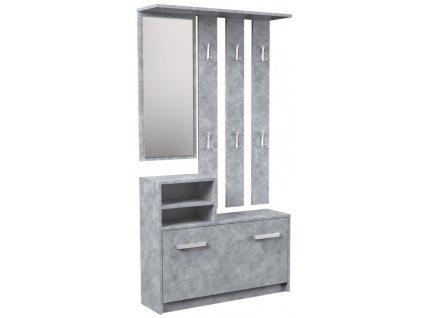 Předsíňová sestava, beton
