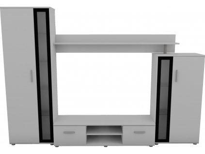 Obývací stěna, bílá mat, BEMI