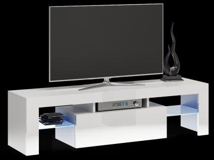 RTV stolek, bílý lesk, DEKO 140