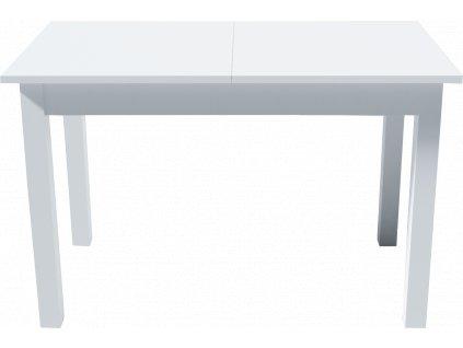 Jídelní rozkládací stůl, bílá, KEVIN 120 cm