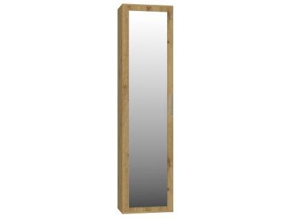 Skříň se zrcadlem, dub artisan, DUO