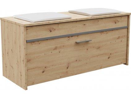 Lavice s úložným prostorem, dub artisan, ROMA