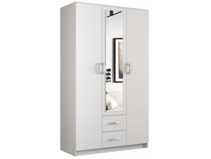 Šatní skříň, bílá, ROMANA 120