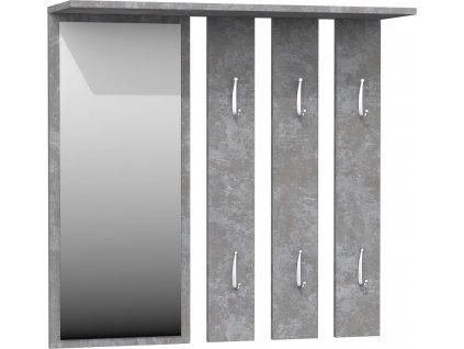 Věšáková stěna, beton, OPAL