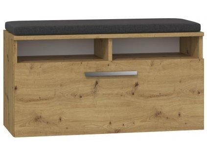 Lavice s úložným prostorem, dub artisan, RIVA