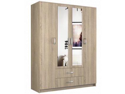 Šatní skříň, dub sonoma, ROMANA 160