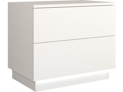 Noční stolek, bílá, SELA S2