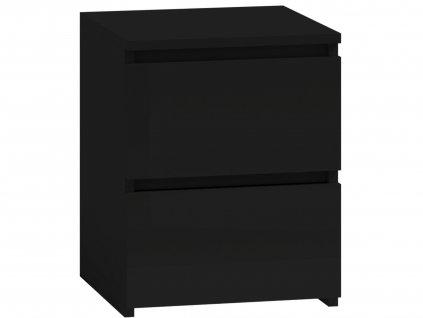 Noční stolek, černá, MALWA M2