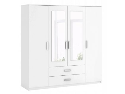 Šatní skříň, bílá, ROMANA 200