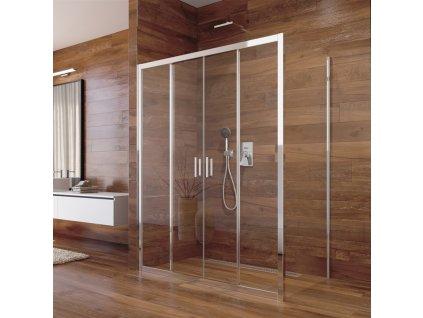 Sprchový kout, Lima, obdélník, výša 190 cm, chrom ALU, sklo Čiré Sprchový kout, Lima, obdélník, 150x90x190 cm, chrom ALU, sklo Čiré